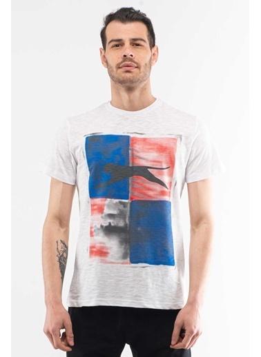 Slazenger Slazenger KEPLER Erkek T-Shirt  Beyaz